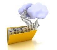 云彩计算的概念文件夹 免版税库存图片