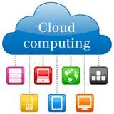云彩计算的概念 图库摄影
