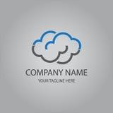 云彩计算的模板商标 免版税库存图片
