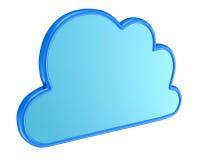 云彩计算的符号- 3d回报 免版税库存图片
