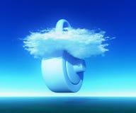 云彩计算的证券 库存照片