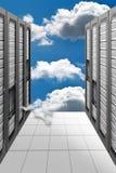 云彩计算的datacenter 库存图片