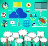云彩计算网络网上互联网存贮概念 图库摄影
