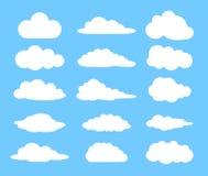 云彩设置了 免版税库存照片