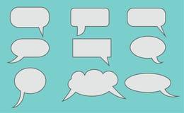 云彩设计对话要素例证向量 免版税库存照片