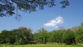云彩运动在农田 影视素材