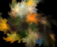 云彩颜色分数维 库存照片