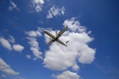 云彩飞机 库存照片