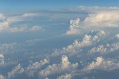 云彩从上面 库存照片