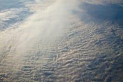 云彩从上面 免版税库存图片