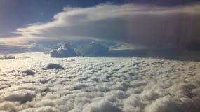 云彩从上面 免版税库存照片