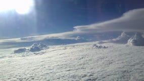 云彩从上面 库存图片