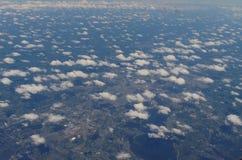 云彩从上面 免版税图库摄影