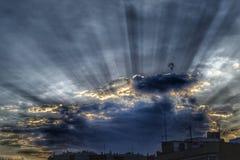 云彩阴影 库存图片