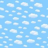 云彩仿造无缝 库存照片