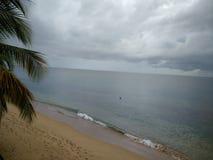 云彩Playa Corcega史特拉,波多黎各 免版税库存照片