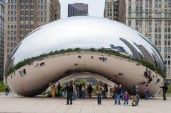 云门和芝加哥地平线 2008年11月5日 免版税库存照片