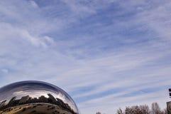 云门雕塑,芝加哥 免版税库存照片