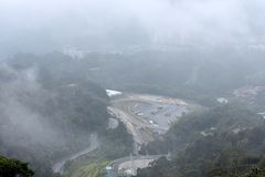 云顶高原,马来西亚- 2017年11月2日:云顶高原神奇神色  免版税库存照片