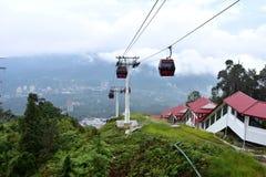 云顶高原,马来西亚- 2017年11月2日:云顶高原缆车 免版税图库摄影
