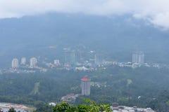 云顶高原,马来西亚- 2017年11月2日:云顶高原鸟瞰图  免版税库存图片