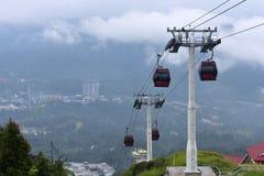 云顶高原,马来西亚- 2017年11月2日:在云顶高原的Awana SkyWay 免版税库存照片