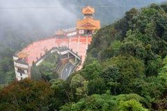 云顶高原,马来西亚- 2017年11月2日:奇恩角Swee寺庙在云顶高原 免版税库存照片
