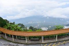 云顶高原,马来西亚- 2017年11月2日:奇恩角Swee寺庙在Genting 免版税库存图片