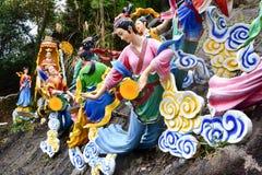 云顶高原,马来西亚- 2017年11月2日:神仙在奇恩角Swee寺庙跨接 库存图片