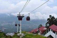云顶高原,马来西亚- 2017年11月2日:Awana Skyway -手段世界Genting 库存照片