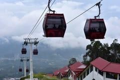 云顶高原,马来西亚- 2017年11月2日:Genting Skyway 库存照片