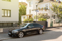 云香Gotfried停放的豪华BMW 图库摄影