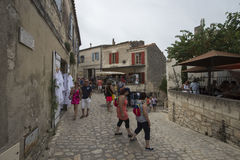 云香Porte Mage,列斯Baux de普罗旺斯,法国 免版税图库摄影