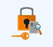 互联网与安全相关的象图象 向量例证