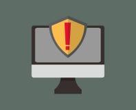 互联网与安全相关的象图象 皇族释放例证