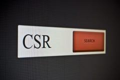 互联网与词组CSR的查寻酒吧 图库摄影