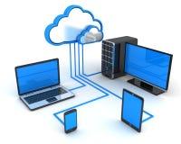 互联网云彩,概念 图库摄影