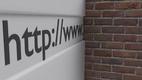 互联网互联网审查和通入的封锁的看法砖墙概念否认了3d例证 库存例证