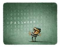 互联网偷窃概念 免版税库存图片