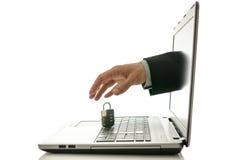 互联网偷窃的概念 免版税库存照片