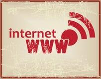 互联网卡片 免版税库存图片