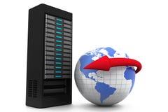 互联网和全球性通信 库存照片