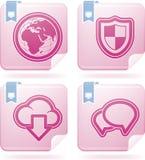 互联网图标 免版税库存图片