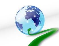 互联网在线世界 向量例证