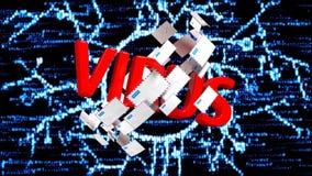 互联网威胁,许多被传染的电子邮件 被传染的电子邮件许多邮寄  与附件42的电子邮件 库存例证