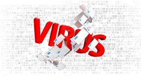 互联网威胁,许多被传染的电子邮件 被传染的电子邮件许多邮寄  3d例证 皇族释放例证