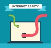 互联网安全传染媒介例证 免版税库存图片