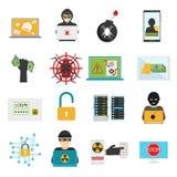 互联网安全传染媒介例证 库存照片
