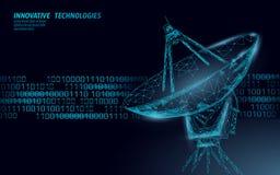 互联网安全抗病毒系统 低多多角形雷达个人资料数据保密 黑客攻击侦查传染媒介 向量例证