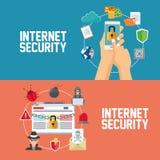互联网安全设计 系统象 五颜六色的例证,传染媒介 免版税库存图片